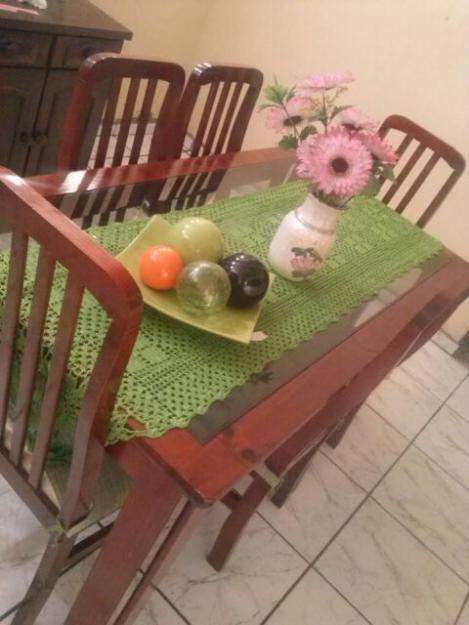 Jogo De Sala De Jantar Em Madeira ~ Jogo de Sala de Jantar de 8 cadeiras em madeira maciça