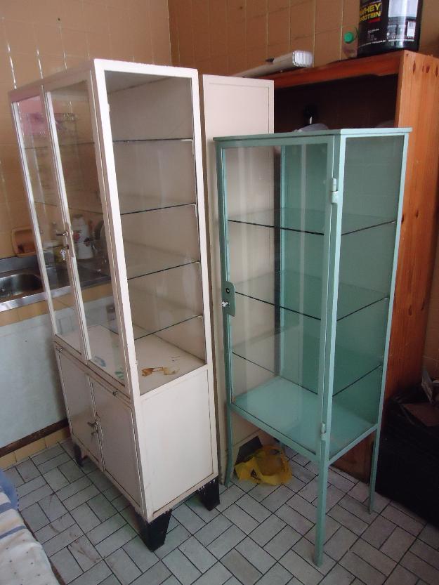 Armario De Ferro Antigo : Cristaleira armario antigo farmacia em ferro vazlon brasil