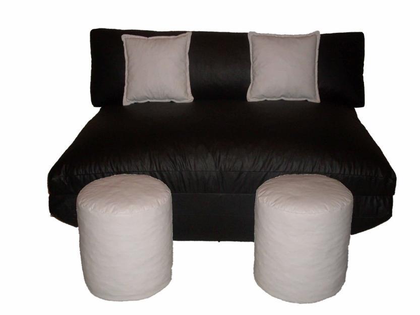 Puff sofa 2 ou 3 pessoas lindo vira cama melhor preco for Sofa que vira beliche preco