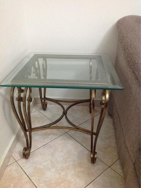 Armario De Cozinha De Madeira ~ mesa de vidro chanfrado em ferro com aparador Vazlon Brasil