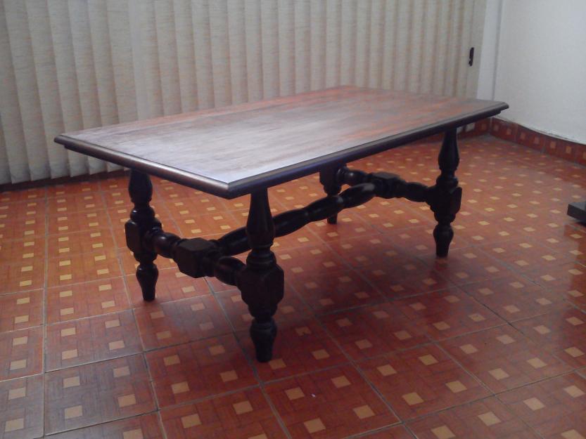 Mesa estilo colonial 4cadeirasmadeira macicatroco vazlon for Mesas estilo colonial