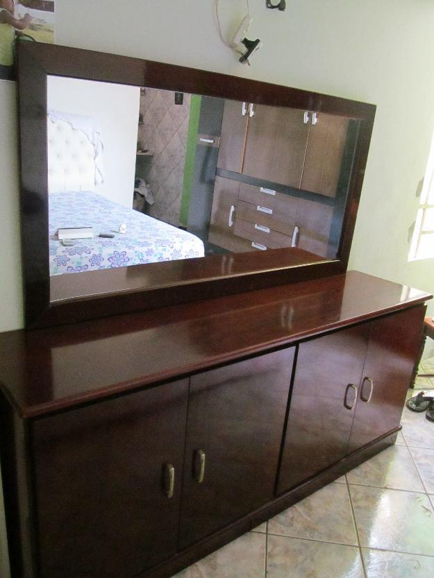 Armario Modulado Banheiro ~ mesa de madeira com aparador e espelho Vazlon Brasil