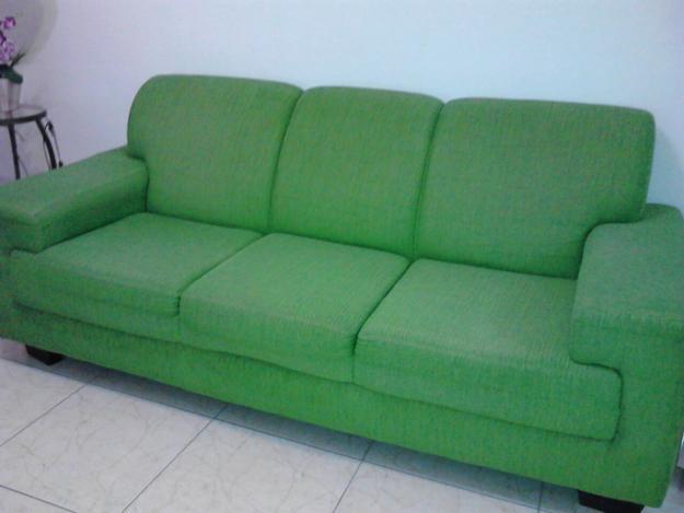 Sofa cama sofa verde e cortina de bambu - Sofa cama verde ...