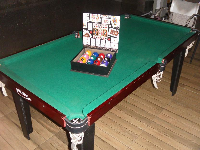 Mesa de ping pong sinuca bot o jantar tudo em 1 for Mesa de ping pong usada