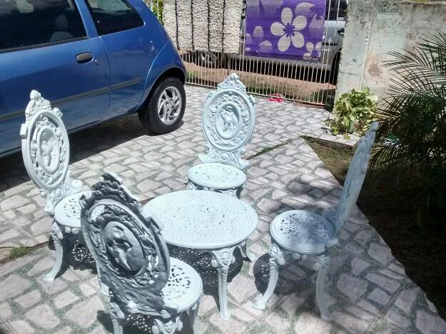 mesa jardim curitiba:mesa para jardim mesa para jardim linda mesa e 4 cadeiras de ferro