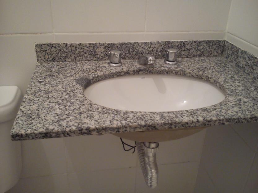 Pia De Banheiro Granito Cinza Com Torneira Misturador E Cuba Pictures to pin  -> Cuba Para Banheiro Misturador