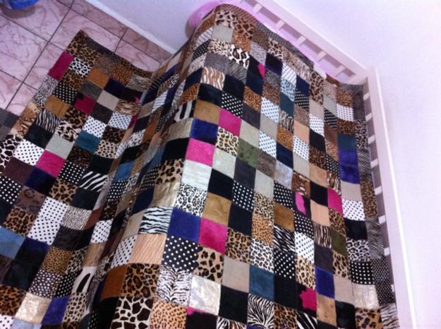 Patchwork Em Tapete De Banheiro : de patchwork colorido em couro tapete em couro e com forro todo em