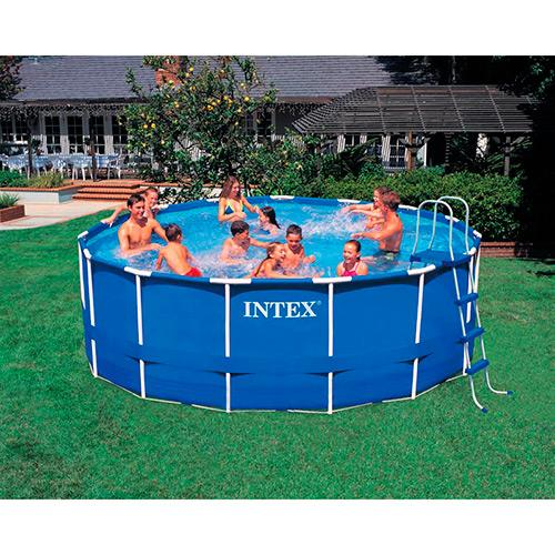 Piscina intex litros com armacao de ferro vazlon brasil for Alberca intex