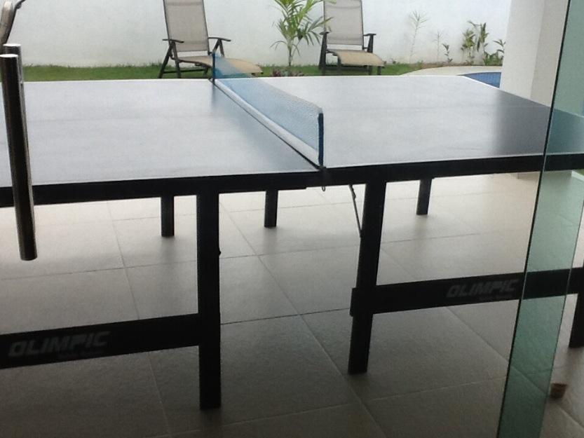 Barbada tenis de mesa ping pong tamanho oficial vazlon for Mesa de ping pong usada