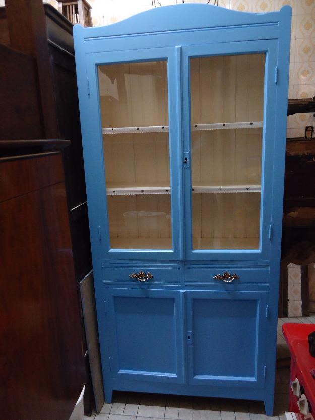 Armarios Antigos : Armario de cozinha em aco portas gavetas antigo