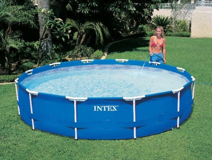 Piscina intex litros estrutural armacao metal ferro for Alberca intex redonda