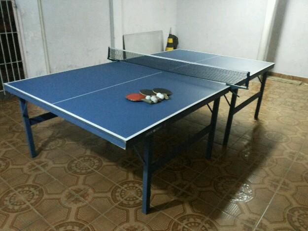 Mesa de bilhar acompanha tampo que serve de ping pong for Mesa de ping pong usada