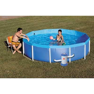 Piscina litros mor standard estrutura aco xx vazlon brasil for Lona piscina redonda