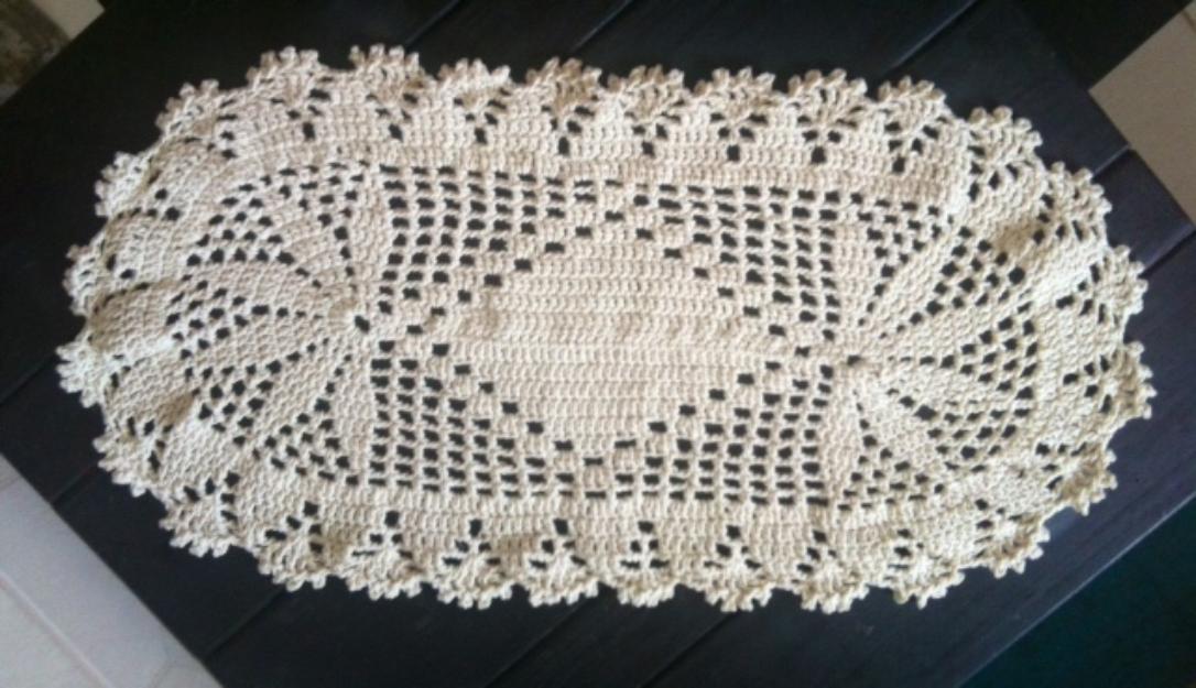 manta de sofa tapete caminho de mesa croche em barbante | Vazlon ...