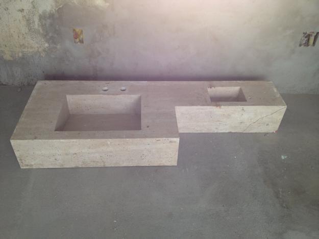 bancada para banheiro com pia de marmore om valvula oculta  Vazlon Brasil # Valvula Pia De Banheiro
