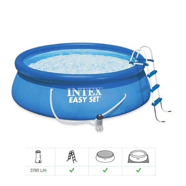 Piscina intex litros capa filtro eletrico bomba vazlon for Filtro para piscina intex