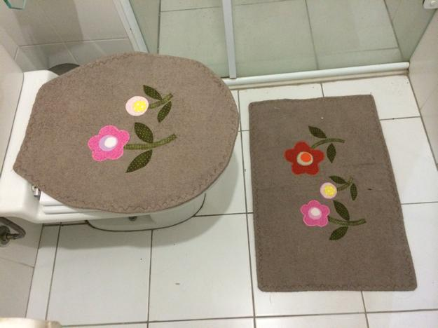 Patchwork Em Tapete De Banheiro : para banheiro patchwork tapete de tecido atoalhado com aplique em