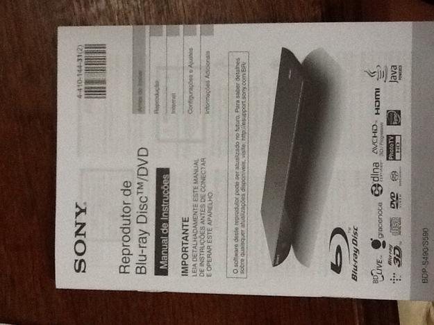Bluray Player 3D Sony BDPS