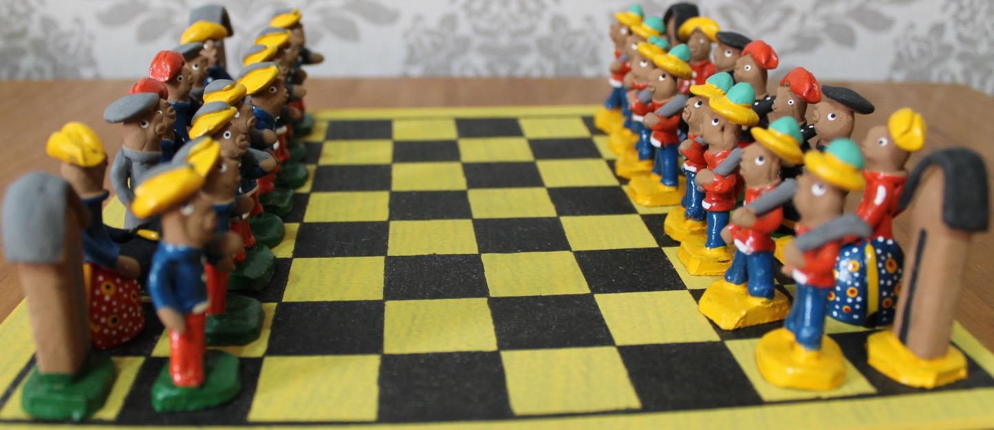 Aparador Tv Vintage ~ jogo de xadrez real artesanal em latao reciclado Vazlon Brasil