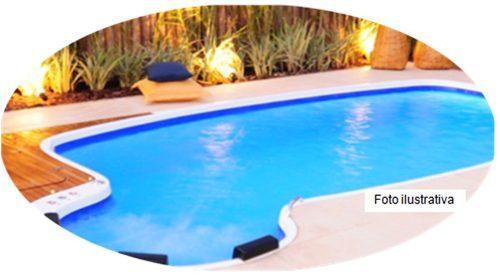 piscina de fibra completa com bombacascata e filtro