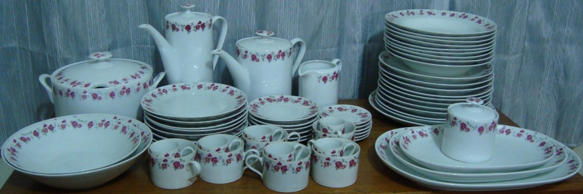Pratos porcelana real antigos cor marron ou vermelho for Marcas de porcelana