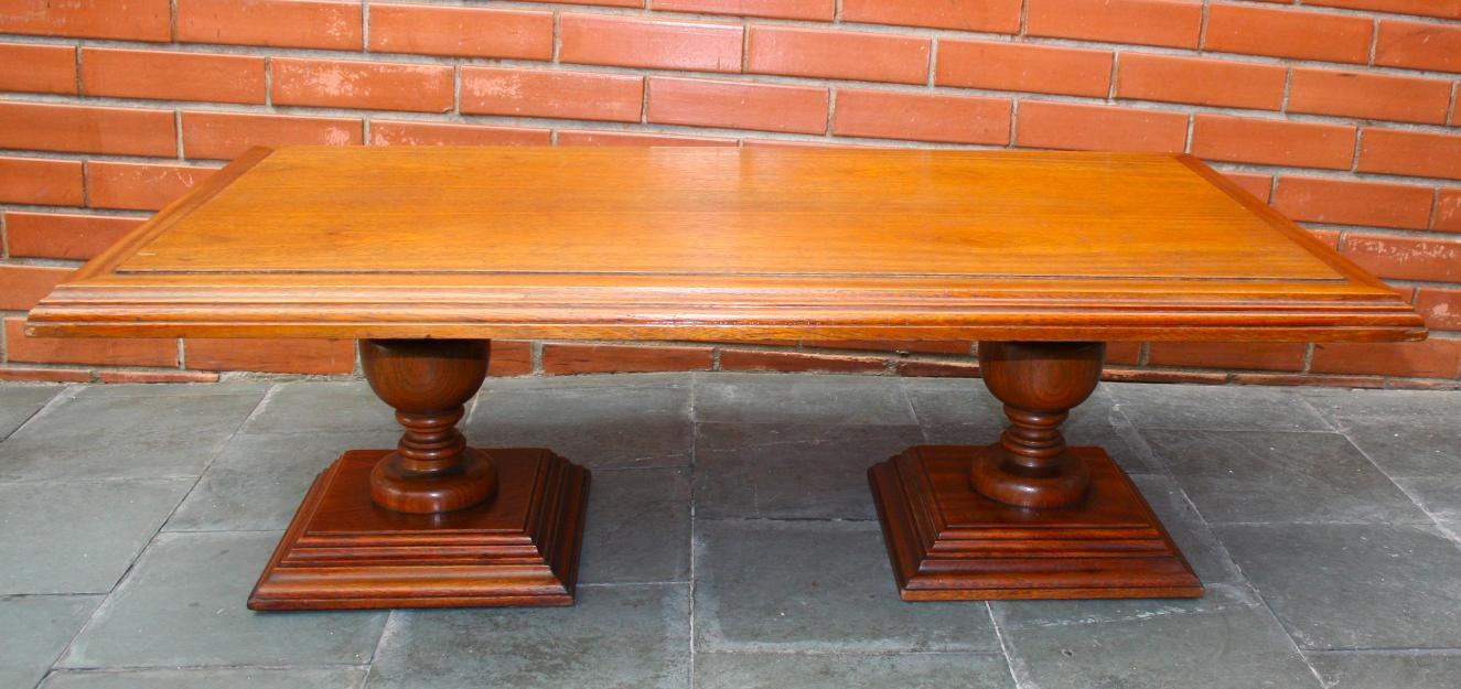 Mesa mesinha colonial antiga madeira cerejeira vazlon brasil - Mesa centro colonial ...