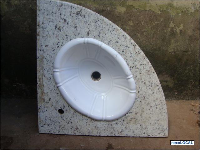 lavatorio para banheiro com cuba e marmore travertinonovo  Vazlon Brasil # Pia De Canto Para Banheiro