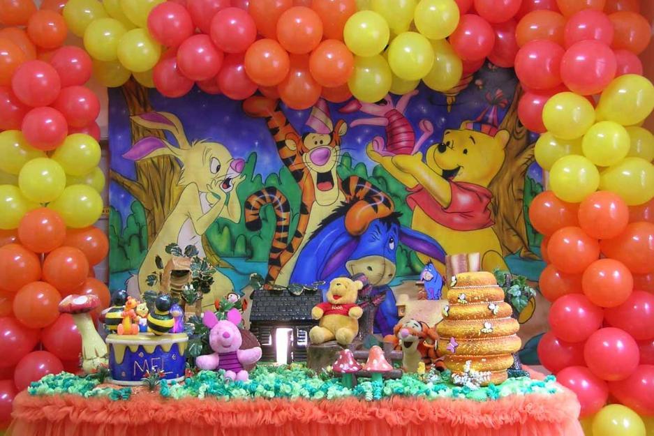 enfeites decoracao para mesa de aniversario ursinho pooh  Vazlon Brasil