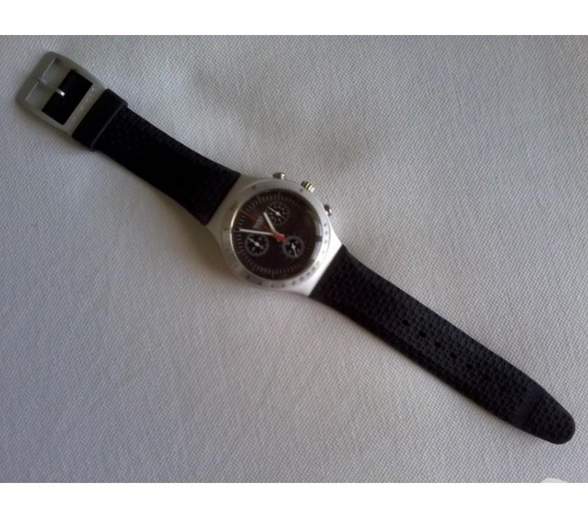 419fd49c145 Relógio Swatch Irony Chrono Aluminium YCS - Novo