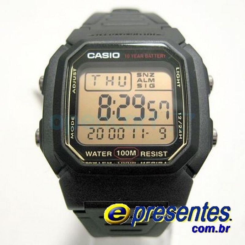 015600cc048 relogio casio masculino caixa e pulseira de resina iluminacao hora ...