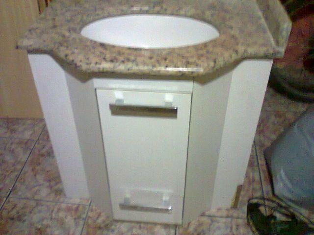 gabinete para banheiro saturno 1 porta 1 gaveta  Vazlon Brasil -> Cuba Banheiro Branca