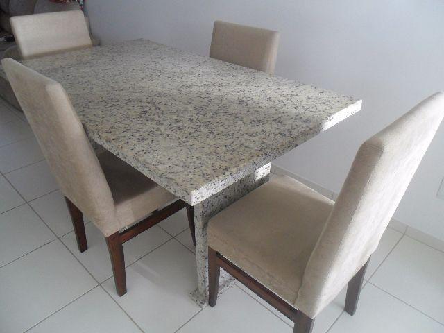 Conjunto mesa de granito vazlon brasil - Mesa de granito ...