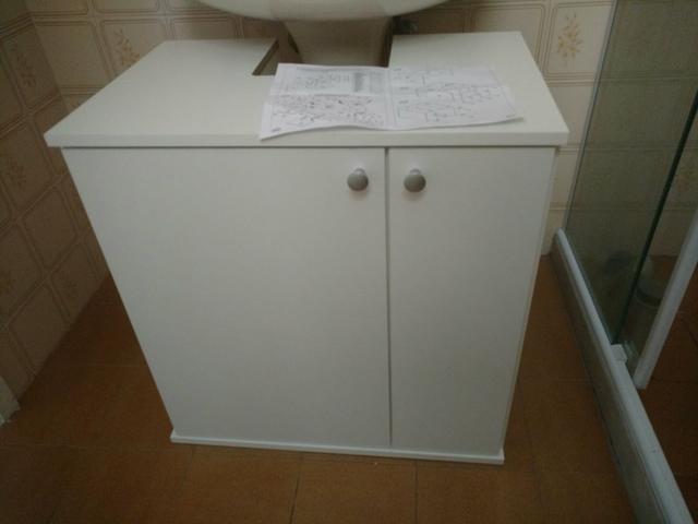 pia com coluna e armario de aluminio  Vazlon Brasil -> Pia Banheiro Profundidade