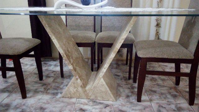 Mesa de vidro com pe de granito vazlon brasil - Mesa de granito ...
