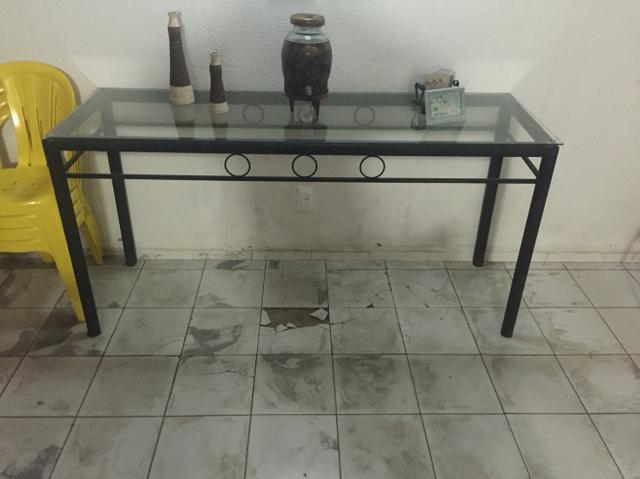 Armario De Cozinha De Madeira ~ vendo aparador de ferro com tampo de mosaico Vazlon Brasil