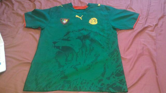 Camisa Oficial Da Selecao De Camaroes Vazlon Brasil