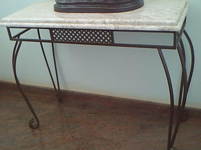 Armario De Cozinha De Madeira ~ lindo aparador ferro ouro velho com tampo de marmore Vazlon Brasil