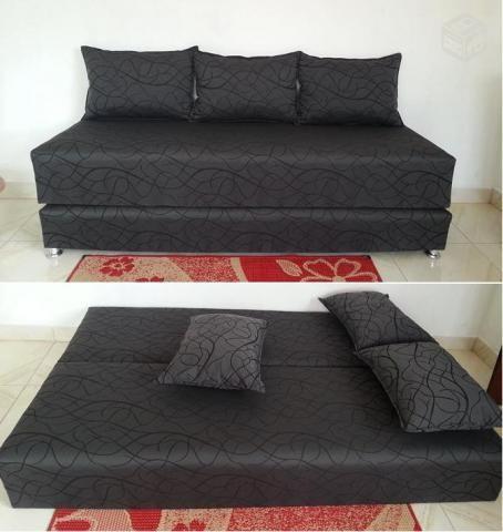 Sofas cama c preco imbativel com almofadas soltas e for Sofa cama oferta alcampo