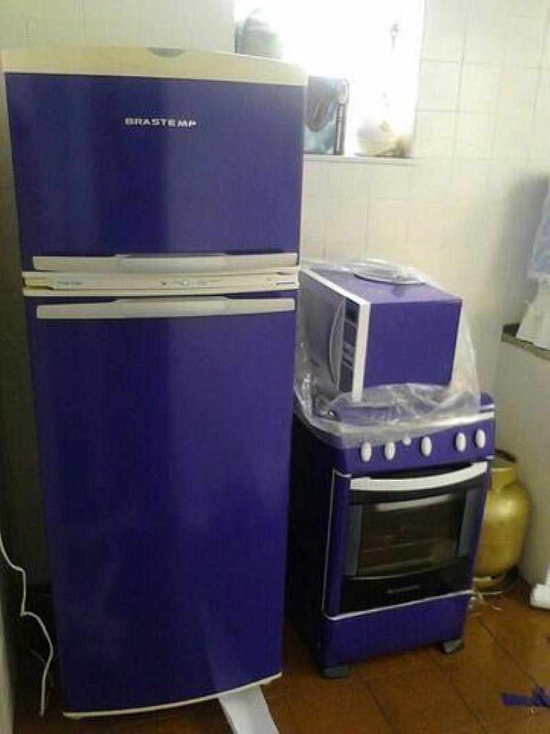Armario Planejado Cozinha ~ envelopamento de geladeira e armarios Vazlon Brasil