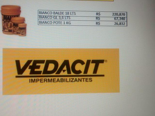 Indústria Artesanato Manufatura E Maquinofatura ~ vedacit bianco 18kg Vazlon Brasil