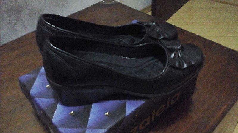07948e576 sapato preto azaleia de couro r [ OFERTAS ] | Vazlon Brasil