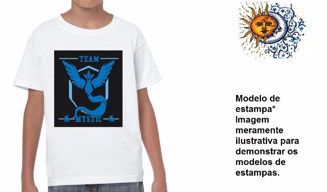 Camisa camiseta adulto e infantil pokemon go model 2