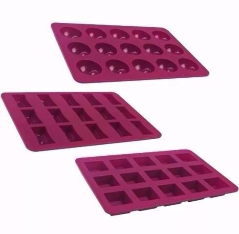 Formas de silicone para bombons