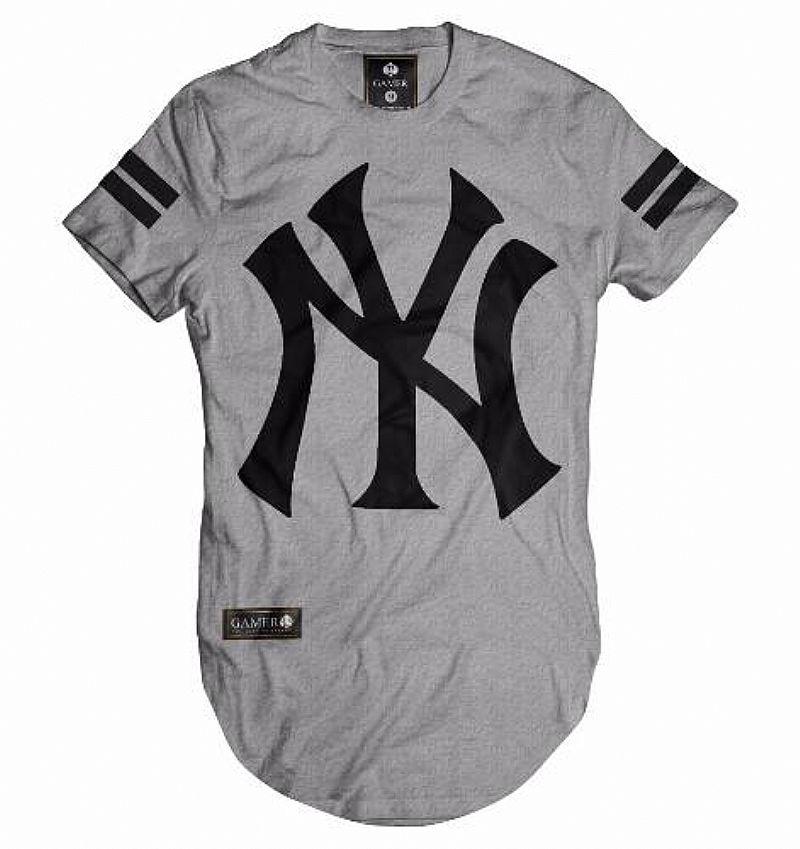 73147cdd2 camisa camiseta oversized longline masculina ny kings swag   OFERTAS ...