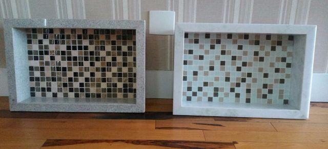 pia grande para banheiro de marmore branco 3cm de espessura  Vazlon Brasil -> Nicho Banheiro Embutir