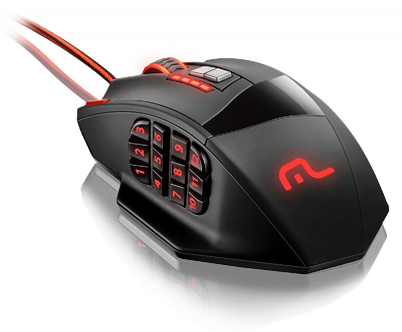 Mouse gamer 18 botoes macro warrior mo206 multilaser dpi