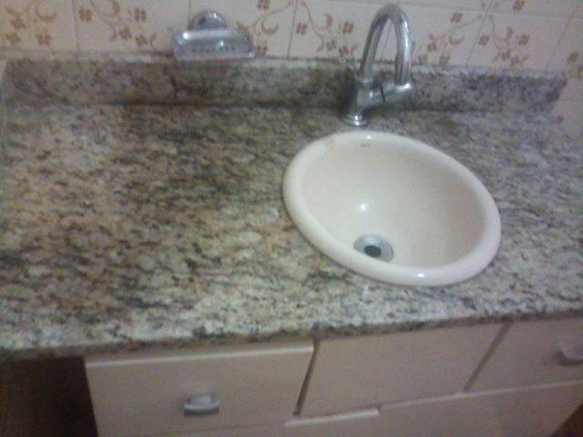 bancadas de granito com cuba instalada nova  Vazlon Brasil -> Bancada Para Cuba Para Banheiro