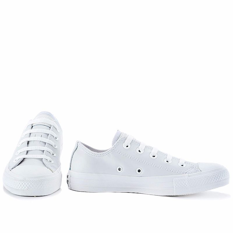 Tenis converse all star ct as monochrome couro branco n.f.