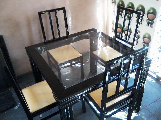 Sala Jantar Laca Preta ~ Mesa sala jantar 4 cadeiras laca preta
