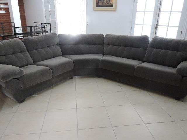 Sofa de canto 5 lugares almofadas vazlon brasil for Sofa de canto 8 lugares